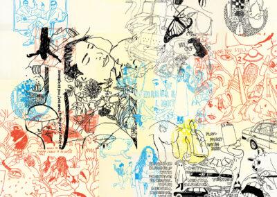 Tegneren, 200 x 160 cm