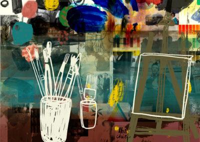 Billedkunstneren, 200 x 180 cm
